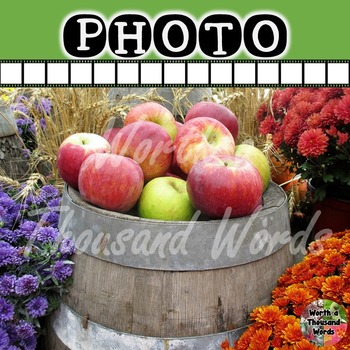 Photo: Autumn Apples and Mums
