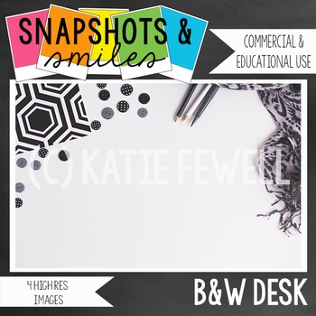 Photo: Black and White Desk: 4 images