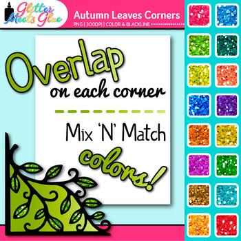 Photo Corners Clip Art [AUTUMN LEAVES] - Autumn Clip Art -