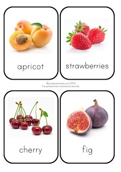 Photo Fruit Cards
