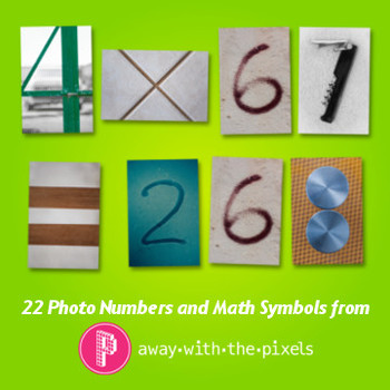 Photos of Numbers & Symbols Realistic Clip Art for Teacher