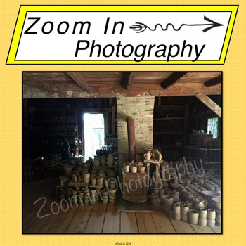 Stock Photo: Pioneer Revolutionary War Period Pottery Shop
