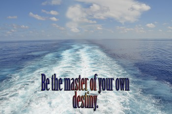 Photo Poster Be the master of your own destiny Inspiration