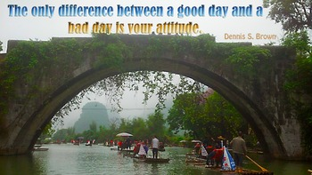 Photo Poster  Difference between good day and bad day Insp