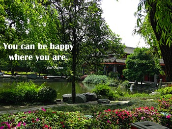 Photo Poster You can be happy where you are Inspirational Quote