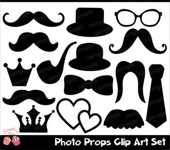 Photo Props Clip art Set