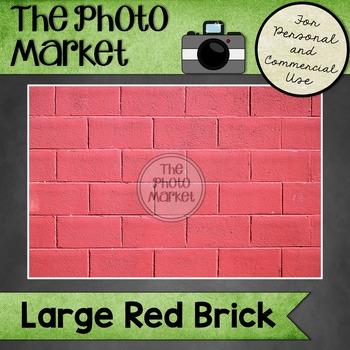 Photo: Red Brick Wall - Large
