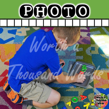 Photo: Student Building Words
