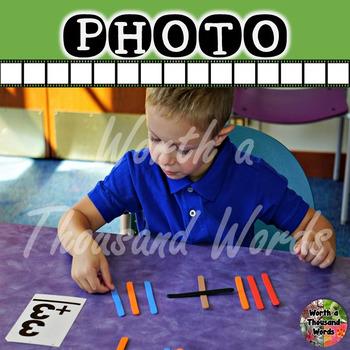 Photo: Student and Math Manipulative