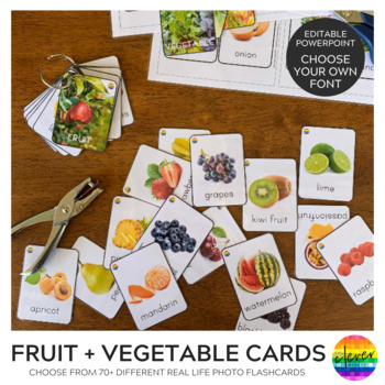 Photo Vegetable Cards