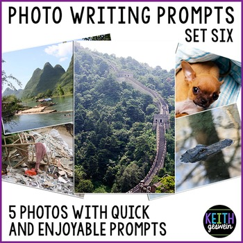 Photo Writing Prompts Set 6: Quick & Fun Prompts About 5 Photos