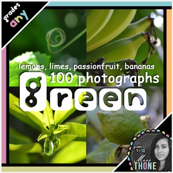 Photographs: Green Lemons, Limes, Bananas & Passionfruits