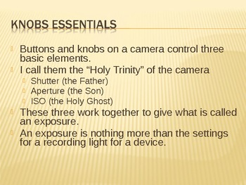 Photography Essentials 04 - Buttons and Knobs