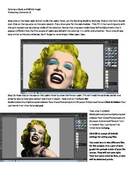 Photoshop Elements Unit 2 Andy Warhol Step 3 Adding Color