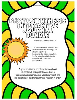 Photosynthesis Guided Notes and/or Cloze