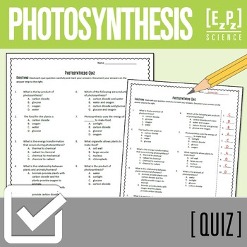 Photosynthesis Plant Quiz