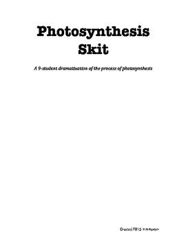 Photosynthesis Skit