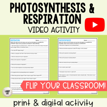 Photosynthesis and Respiration Youtube Inquiry Activity