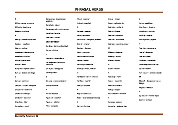 Phrasal verbs in Science