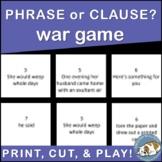 Phrase vs. Clause War Game