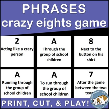Phrases Crazy Eights Game