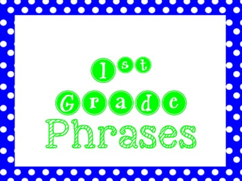 Phrases Exercises