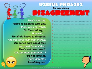 Phrases - Expressing Disagreement