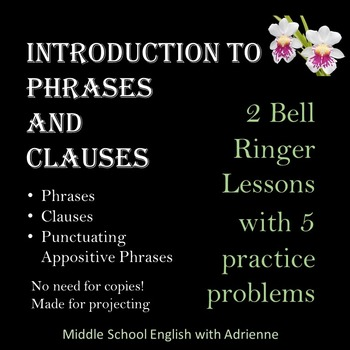 Phrases and Clauses Bell Ringers