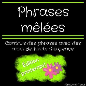 Phrases melees printemps // French Build a Sentence Spring