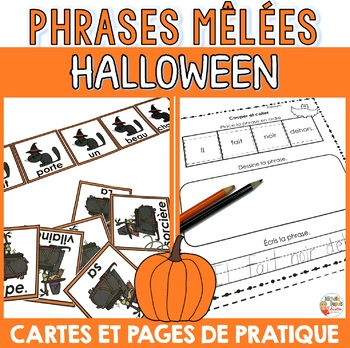 Halloween - phrases mêlées  -  French Halloween