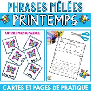 Phrases mêlées  (Thème du printemps)    French product - p