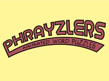 Phrayzlers Animated Word Puzzles game Common Phrases in motion!
