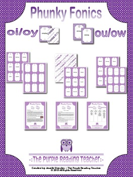Phunky Fonics ~ oi/oy & ou/ow phonics pattern card game