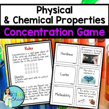 Physical & Chemical Properties Concentration Game