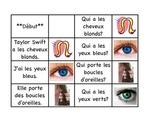 """Physical Descriptions - """"J'ai, qui a""""  French Race Cards (FSL)"""