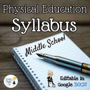 Physical Education Middle School Syllabus - Fully Editable