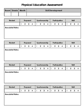 Physical Education Assessment