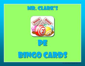 Physical Education Bingo Cards