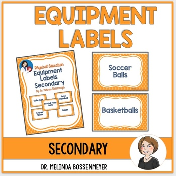 Physical Education Equipment Labels - Secondary