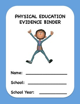 Physical Education Evidence Binder (Danielson) - Blue