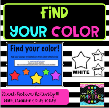 Physical Education: Find Your Color Game!