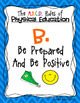 Physical Education / Gym / PE Rules Poster