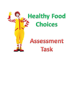 Physical Education: Healthy Food Choices Assessment Task
