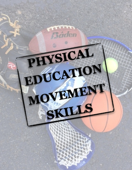 Physical Education Movement Skills Word Wall