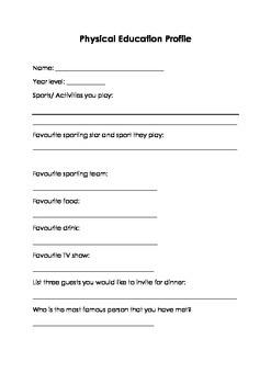 Physical Education Profile