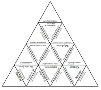 Physical Education The effects of exercise Tarsia Triangle puzzle