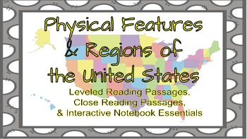 Physical Features&Regions of the U.S. Leveled Reading Pass