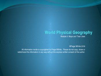 Maps and their Uses Physical Geography Earth Sciences Powe