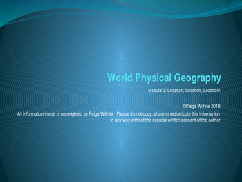 Physical Geography Earth Sciences Power Point Relative Location