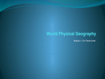 Physical Geography Lesson Power Point Presentation Introduction